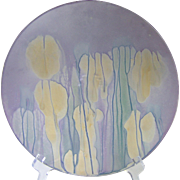 Decorative Rueven art glass plate