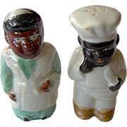 Black Americana Salt and Pepper Shakers