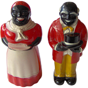 Aunt Jemima and Uncle Mose Salt and Pepper Shakers