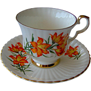 Vintage Royal Windsor Prairie Lily Cup and Saucer