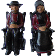 Cast Iron Amish Couple Salt and Pepper Shakers