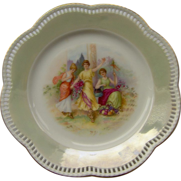 Vintage Schumann Bavaria reticulated plate