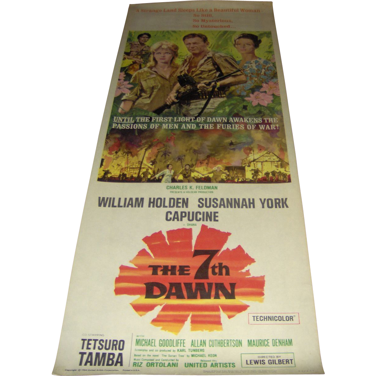 Movie Poster - The 7th Dawn - William Holden