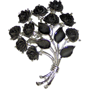 Black Roses brooch by J.J.