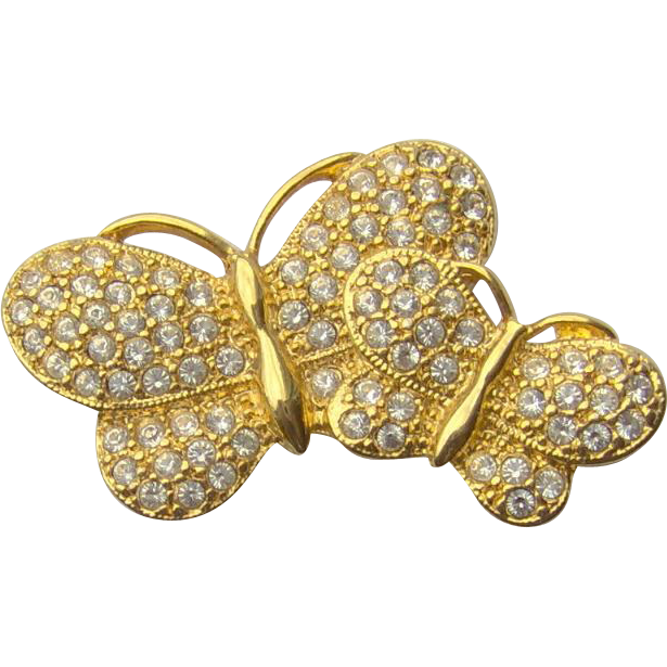 Vintage Butterfly Brooch signed NAPIER