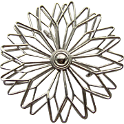 Vintage Stylized Flower Brooch
