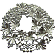 Vintage Wreath Brooch signed Coro
