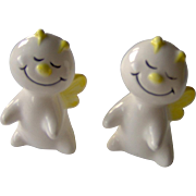 Cheerful pair of salt and pepper shakers