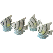 Two sets of Angel Fish salt and pepper shakers