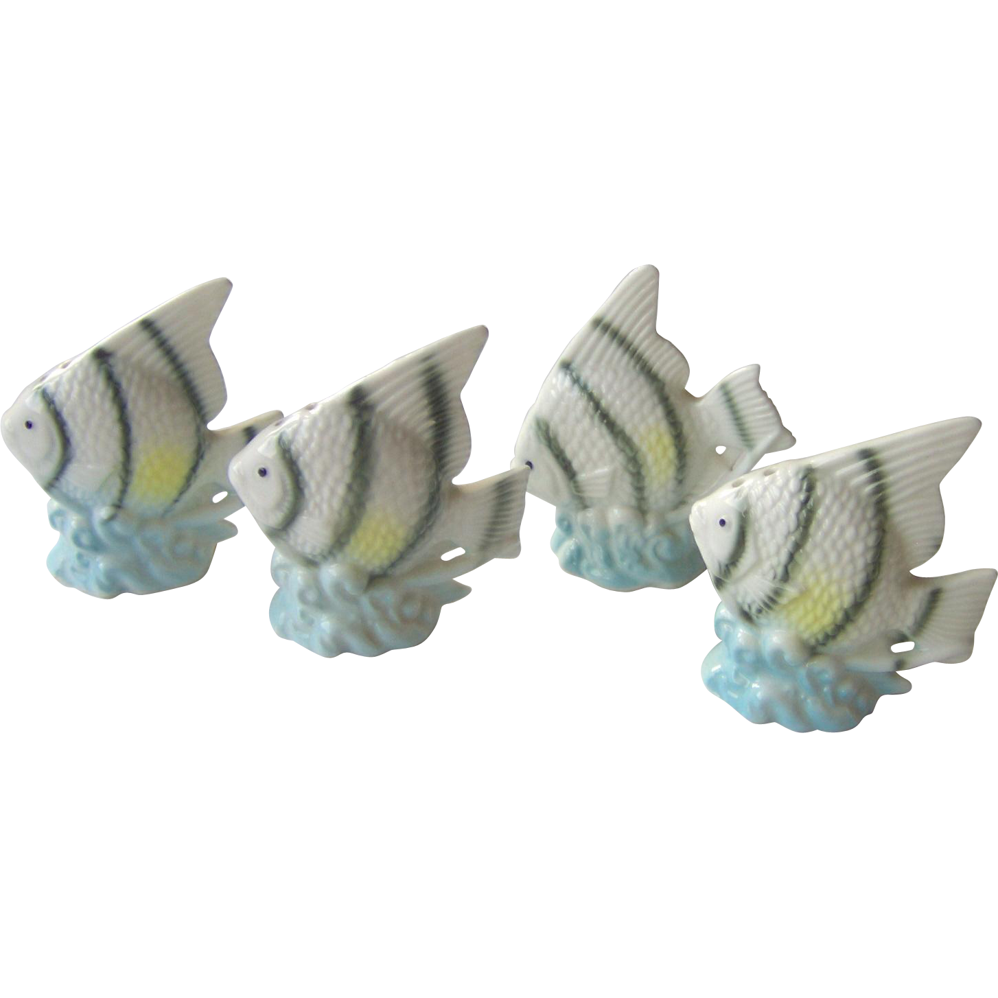 Vintage Angel Fish Salt And Pepper Shakers From