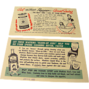 Vintage Watkins salesman advertising postcards