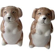 Begging Dog salt and pepper shakers