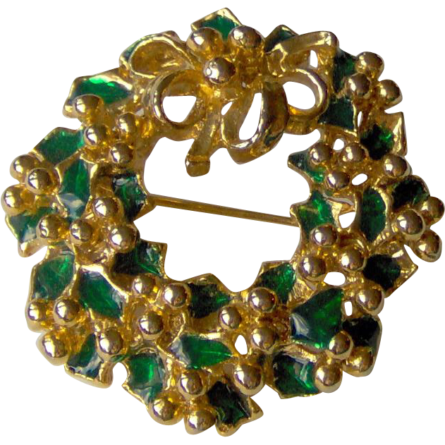 Vintage Wreath brooch