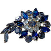 Pretty Blue Rhinestone brooch