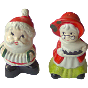 Santa and Mrs. Clause salt and pepper shakers