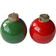 Vintage Christmas Ornament salt and pepper shakers