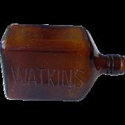 Vintage Watkins Amber Bottle