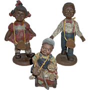 Vintage Sarah's Attic Black American Children Figurines
