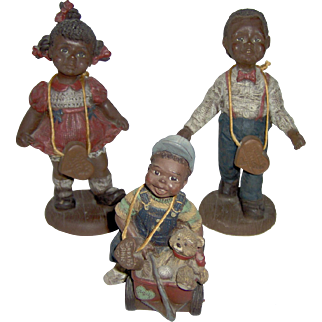 Three Sarah's Attic Black American Children