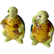Vintage Turtle salt and pepper shakers