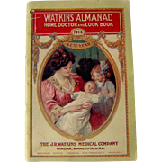 1914 Watkins Almanac Home Doctor and Cook Book - Red Tag Sale Item