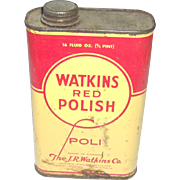 Watkins Red Polish Tin
