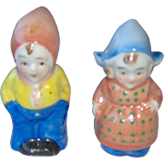 Vintage Dutch Children Salt and Pepper Shakers