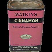 Vintage Watkins Cinnamon Tin