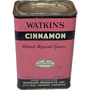 Watkins Cinnamon Tin