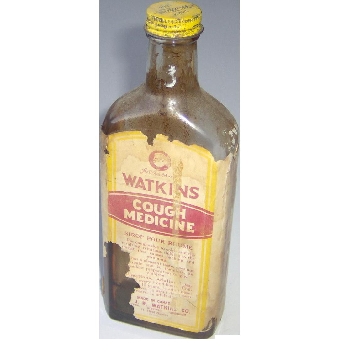 Vintage Watkins Cough Medicine bottle