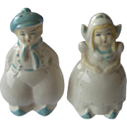 Vintage Dutch Man and Woman Salt and Pepper Shakers