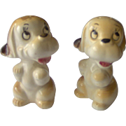 Vintage Dog salt and pepper shakers