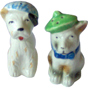 Dogs wearing hats Salt and Pepper Shakers