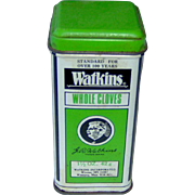 Vintage Watkins Whole Cloves Tin