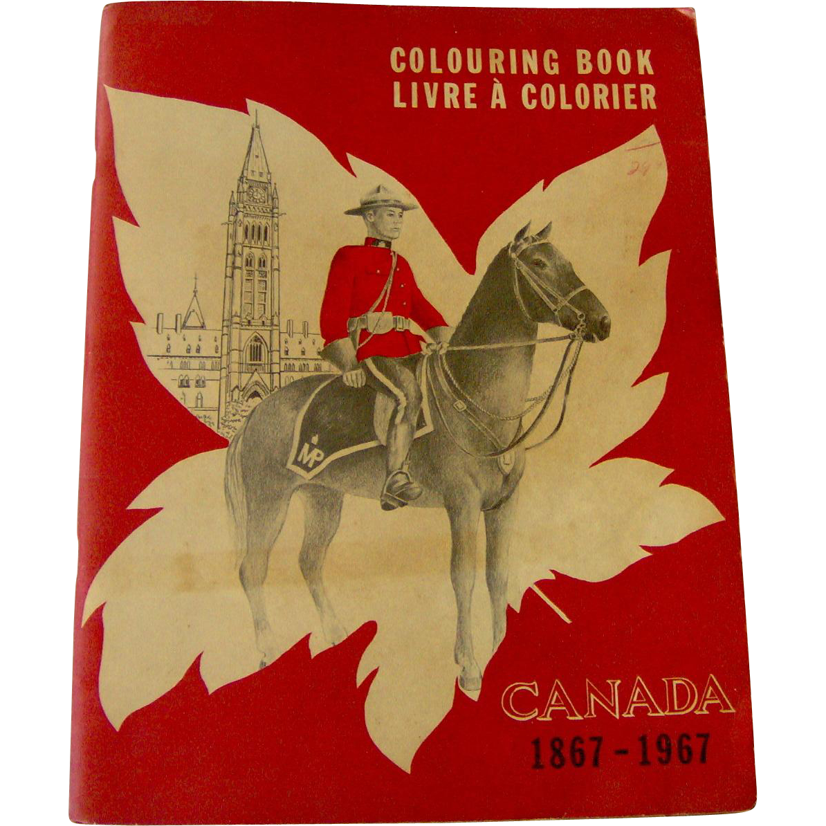 Vintage Canada 1867 to 1967 Coloring Book