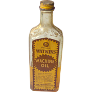 Watkins Machine Oil Bottle