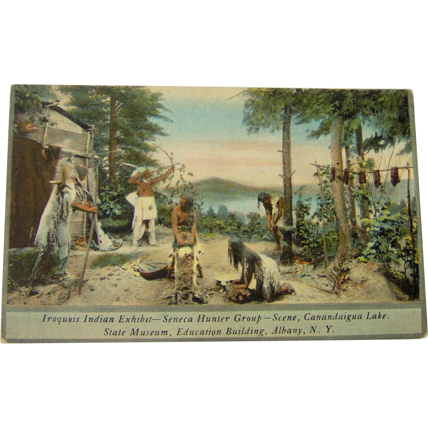 Vintage Iroquois Indian Exhibit Seneca Hunters Group