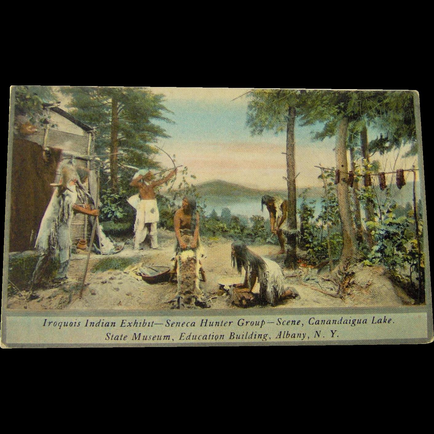 Iroquois Indian Exhibit - Seneca Hunters Group