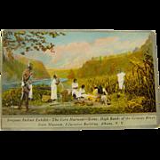 Vintage Iroquois Indian Exhibit The Corn Harvest