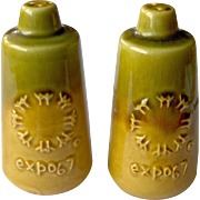 Vintage EXPO 67 Souvenir Salt and Pepper Shakers