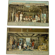 Vintage Iroquois Indian Exhibit Onondaga Council House