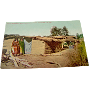 Indian Huts - Postcard