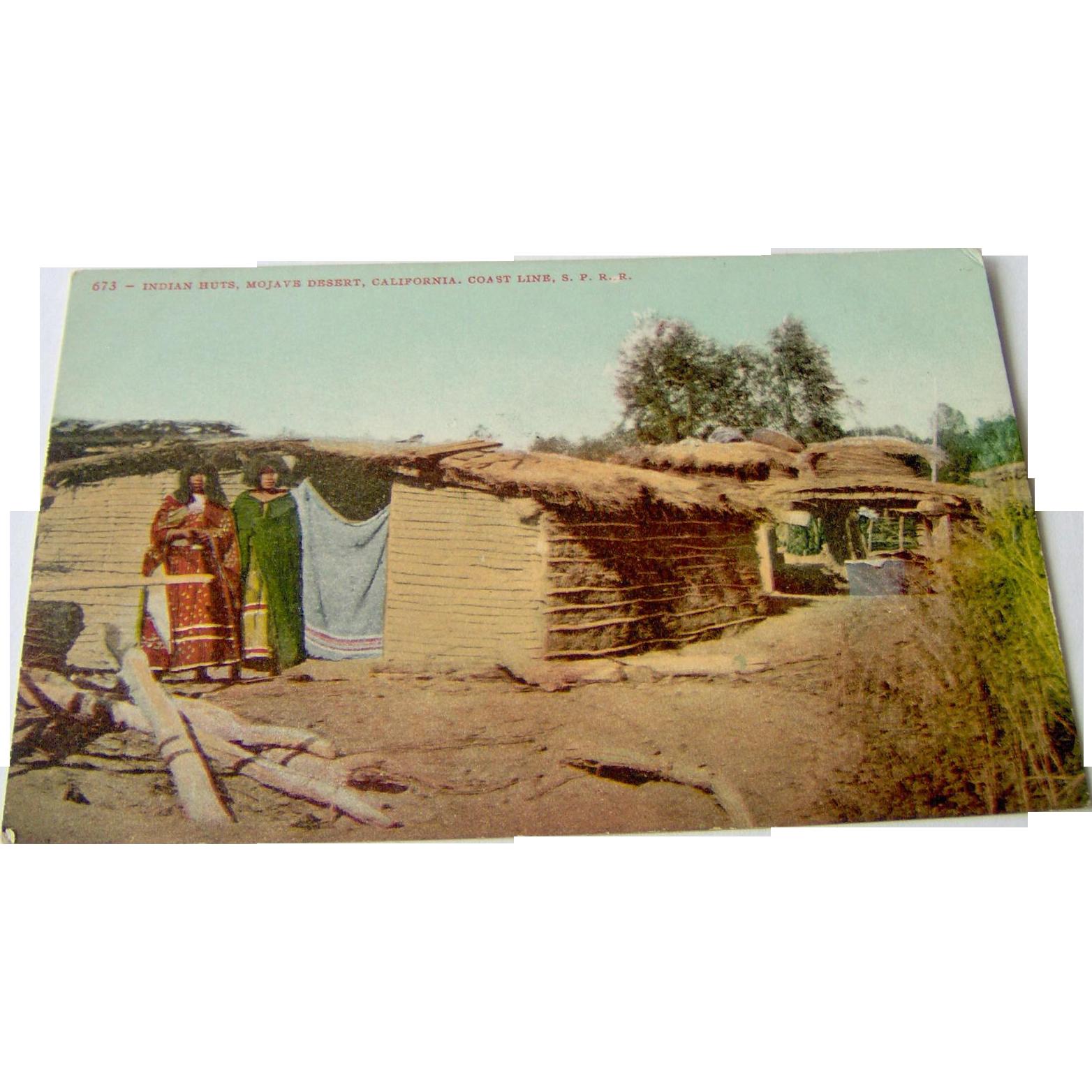 Indian Huts - Postcard