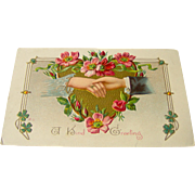 Vintage Postcard A Kind Greeting