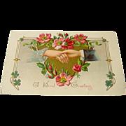 Vintage Postcard A Kind Greeting