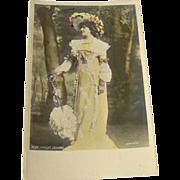 Vintage Postcard of Miss Margot Erskine