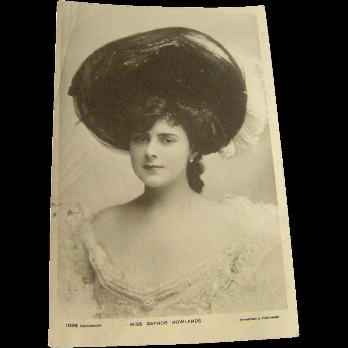 Vintage Postcard Miss Gaynor Rowlands