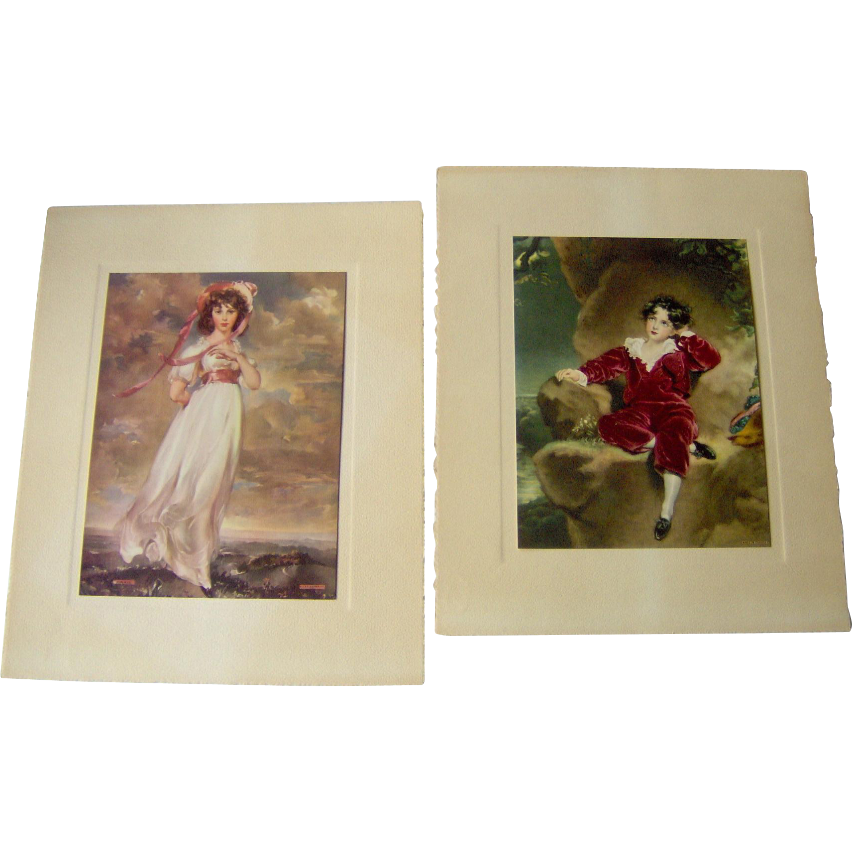 Vintage Prints of Pinkie and Master Lambton