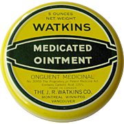 Watkins Medicated Ointment yellow tin