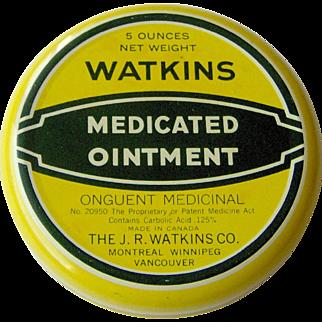 Watkins Medicated Ointment yellow tin